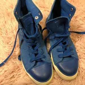 Blue LEVI shoes